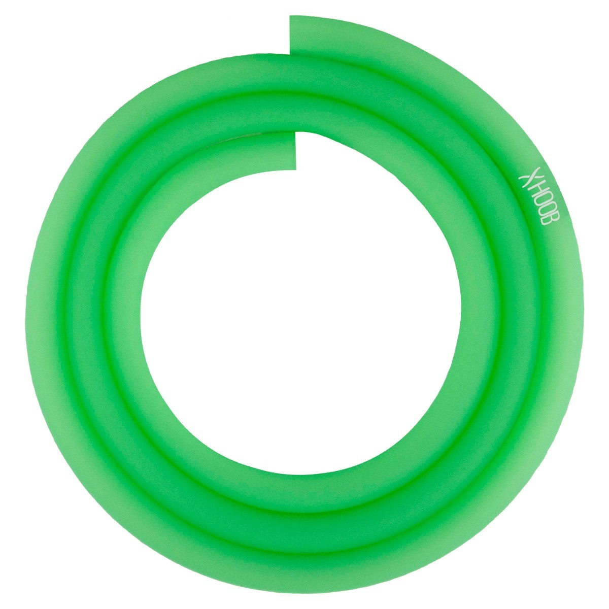 Silicone Hookah Hose   Glowing Green Soft-Touch