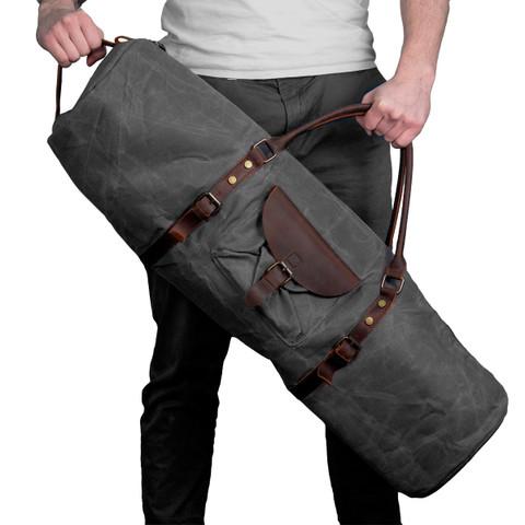 Hoob Long Bag | Удлинённая сумка 80 см из кожи и канваса