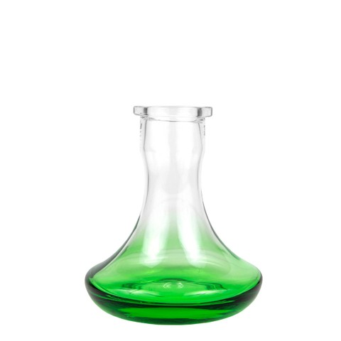 Hoob Base Green Mini   18cm glass hookah vase